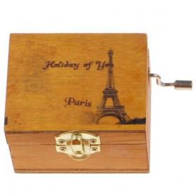 Kotak Musik Klasik Vintage Wooden Music Box - Yellow - 6