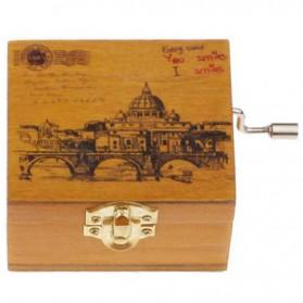 Kotak Musik Klasik Vintage Wooden Music Box - Yellow - 7