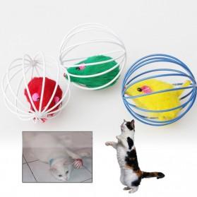 Mainan Kucing Bola Bola Sangkar Tikus - Multi-Color
