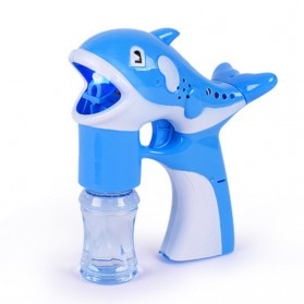 Mainan Gelembung Sabun Otomatis Model Dolphin Bubble Machine - Multi-Color - 1