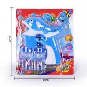 Mainan Gelembung Sabun Otomatis Model Dolphin Bubble Machine - Multi-Color - 5
