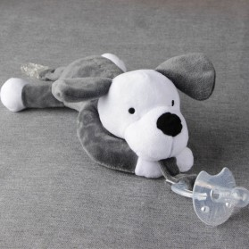 Dot Empeng Bayi Model Boneka Baby Silicon Pacifier Dot - Gray