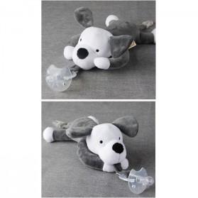 Dot Empeng Bayi Model Boneka Baby Silicon Pacifier Dot - Gray - 2