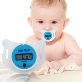 Dot Empeng Bayi dengan LCD Thermometer - Blue
