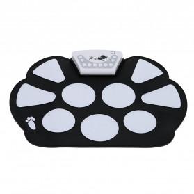 Roll Up Drum Kit Portable 9 Pad - Black