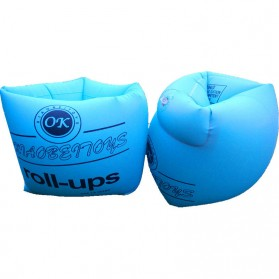 OK Xiaobeitoys Pelampung Lengan Inflatable Arm Band Rolls Up - HW1549 - Blue