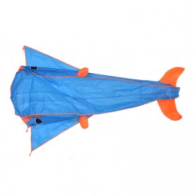 Layang-Layang 3D Model Lumba-Lumba - Blue - 2