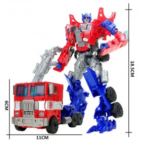 Mainan Kendaraan - Jinjiang Mainan Mobil Action Figure Transformer - JJ - Red