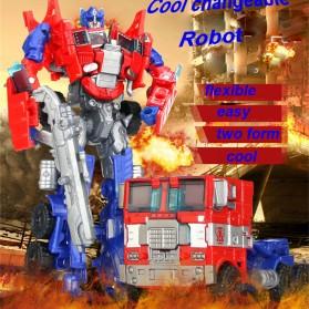 Jinjiang Mainan Mobil Action Figure Transformer - JJ601A - Red - 3