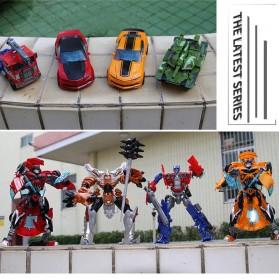 Jinjiang Mainan Mobil Action Figure Transformer - JJ601A - Red - 4