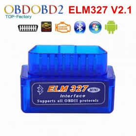 Super MINI ELM327 Bluetooth OBD2 V2.1 Automotive Test Tool - Blue