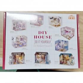 Cute Room Miniatur Rumah Boneka 3D DIY 1:24 - 3013 - White - 9