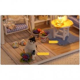 Cute Room Miniatur Rumah Boneka 3D DIY 1:24 - 3013 - White - 6