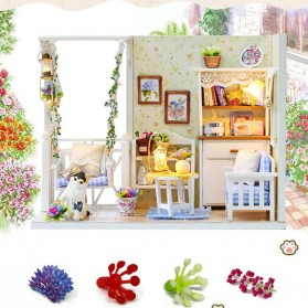 Cute Room Miniatur Rumah Boneka 3D DIY 1:24 - 3013 - White - 7