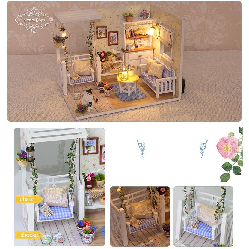 ... Cute Room Miniatur Rumah Boneka 3D DIY 1 24 - 3013 - White - 2 ... 0f74a79752