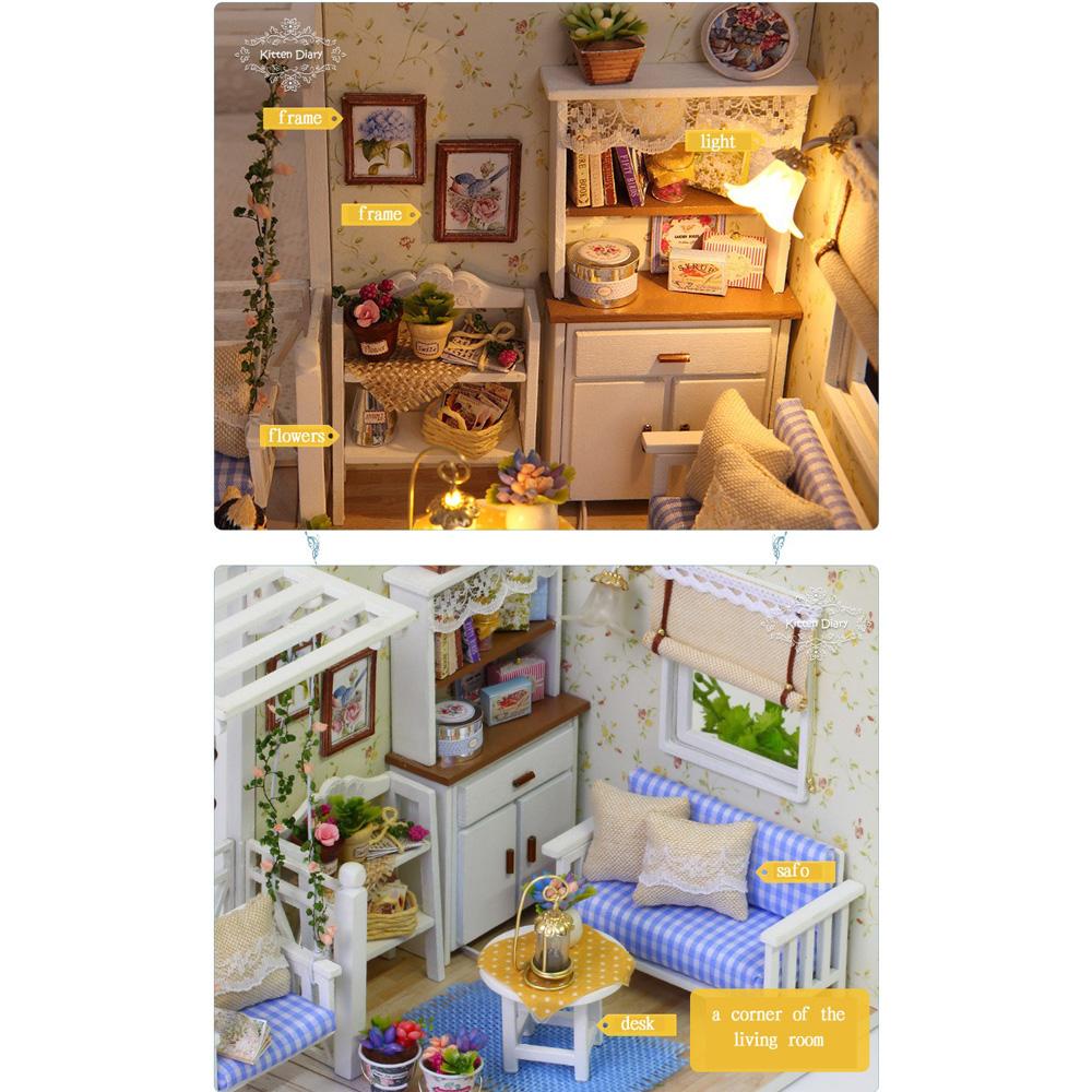 ... Cute Room Miniatur Rumah Boneka 3D DIY 1 24 - 3013 - White - 3 ... 573b18e845