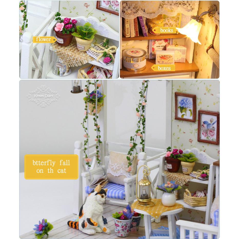 ... Cute Room Miniatur Rumah Boneka 3D DIY 1 24 - 3013 - White - 4 ... 81b0979448