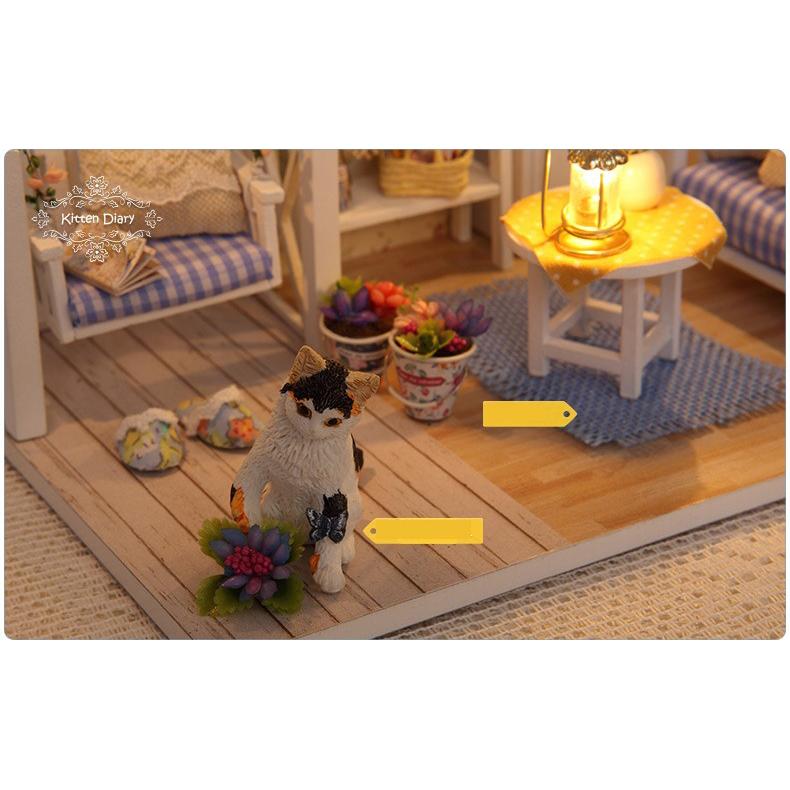 ... Cute Room Miniatur Rumah Boneka 3D DIY 1 24 - 3013 - White - 6 ... 8abd86441a