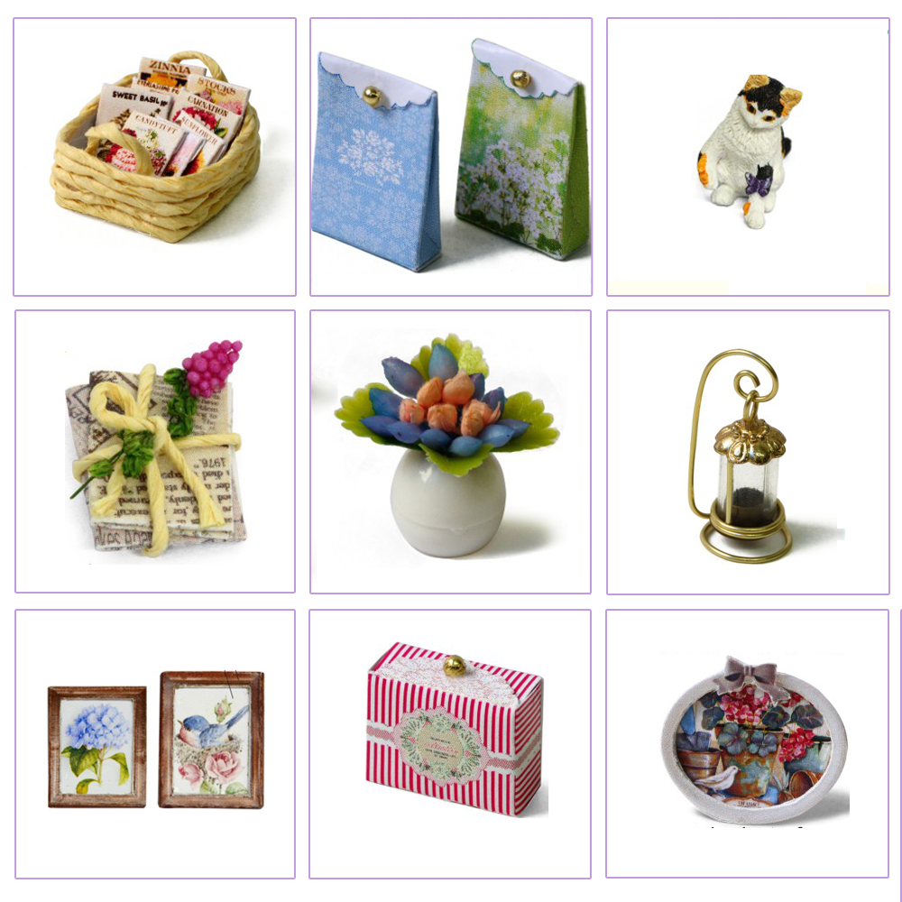 Cute Room Miniatur Rumah Boneka 3D DIY 1 24 - 3013 - White - 8 ... cec3e660f2