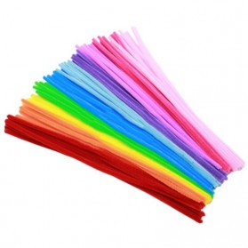 DIY Craft Shilly Plush Sticks Pipe 100 PCS - ZH - Multi-Color