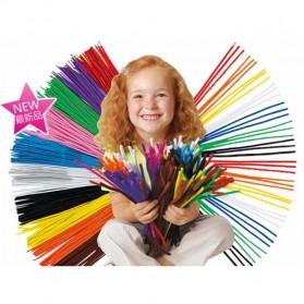 DIY Craft Shilly Plush Sticks Pipe 100 PCS - ZH - Multi-Color - 2