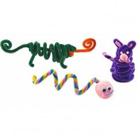 DIY Craft Shilly Plush Sticks Pipe 100 PCS - ZH - Multi-Color - 4