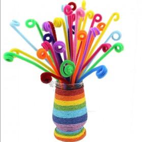 DIY Craft Shilly Plush Sticks Pipe 100 PCS - ZH - Multi-Color - 5