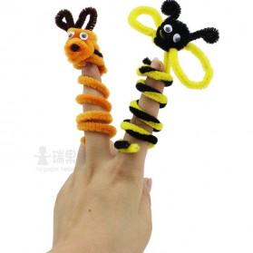 DIY Craft Shilly Plush Sticks Pipe 100 PCS - ZH - Multi-Color - 6