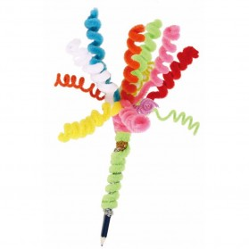 DIY Craft Shilly Plush Sticks Pipe 100 PCS - ZH - Multi-Color - 9