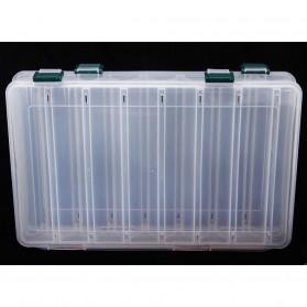 Box Kotak Perkakas Kail Pancing Dua Sisi 14 Slot - Transparent - 2