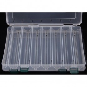 Box Kotak Perkakas Kail Pancing Dua Sisi 14 Slot - Transparent - 3