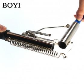 BOYI Joran Pancing Otomatis Stainless Steel Tanpa Spool 2.1M - WG1 - Black - 2