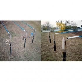 BOYI Joran Pancing Otomatis Stainless Steel Tanpa Spool 2.1M - WG1 - Black - 5