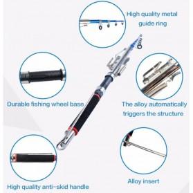 BOYI Joran Pancing Otomatis Stainless Steel Tanpa Spool 2.7M - WG1 - Black - 6