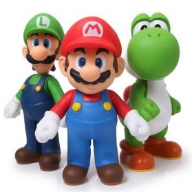 Action Figure Super Mario Bros Luigi Yoshi