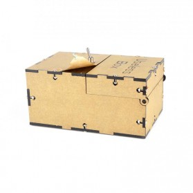 Mainan Useless Box Toy - UB - Black - 7
