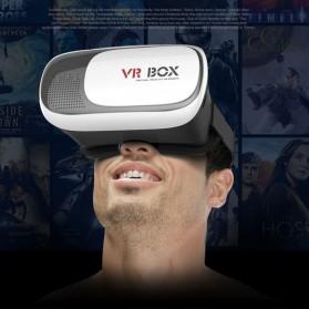 VR Box Virtual Reality Cardboard for Smartphone - White - 2