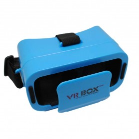 Gadget Media Player, Tablet , Smartphone, Power Bank, Laser Presenter - 3D Mini VR Box Blue Virtual Reality Cardboard for Smartphone - Blue