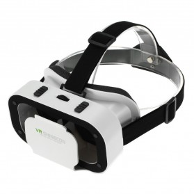 Shinecon VR Box Cardboard 3D Virtual Reality Android IOS - White