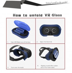 VB16 Mini VR Box Virtual Reality Cardboard for Smartphone - Black - 5