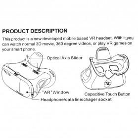 RITECH II VR Box Virtual Reality Cardboard for Smartphone - White - 10