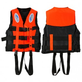 BCVE Dolphin Rompi Pelampung Life Vest for Water Sport Size M - Orange - 3