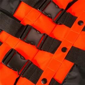 BCVE Dolphin Rompi Pelampung Life Vest for Water Sport Size XL - Orange - 5