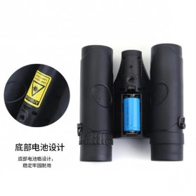 Teropong Binocular 8x Magnification HD Night Vision with Tripod Stand - Black - 3