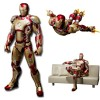 Mainan Action Figure - SHFiguarts Action Figure Iron Man Mark 42 + Sofa Tony Stark - Red/Golden