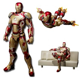 SHFiguarts Action Figure Iron Man Mark 42 + Sofa Tony Stark - Red/Golden