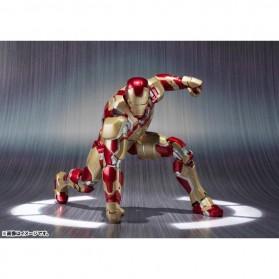 SHFiguarts Action Figure Iron Man Mark 42 + Sofa Tony Stark - Red/Golden - 2