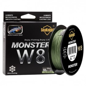 Seaknight Monster W8 Senar Tali Pancing 8 Strands 0.16mm 500 Meter - Line 1 - Green