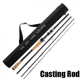 SeaKnight Yasha Tongkat Pancing Carbon Fiber Fishing Rod 2.4M - Casting Type - Black