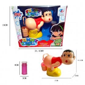 Mainan Balon Sabun Otomatis Bubble Gun LED Model Sinchan - 5